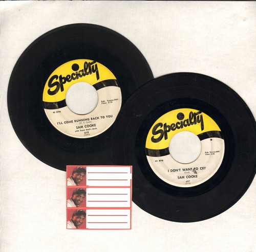 Cooke, Sam - 2 for 1 Special: I Don't Want To Cry/I'll Come Running Back To You (2 vintage first issue 45rpm records for the price of 1!) - VG7/ - 45 rpm Records