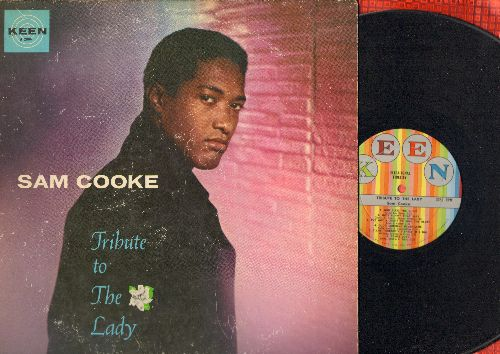 Cooke, Sam - Tribute To The Lady: God Bless The Child, Comes Love, T'Aint Nobody's Business If I Do, Let's Call The Whole Thing Off (vinyl MONO LP record, multi-color label first pressing) - EX8/VG6 - LP Records