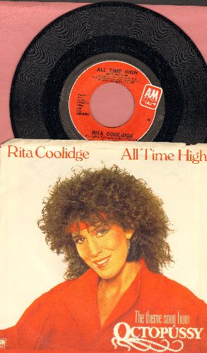 Coolidge, Rita - All Time High (Main Title Song from James Bond film -All Time High-)/All Time High (Extended Instrumental Version) (with picture sleeve) - NM9/EX8 - 45 rpm Records