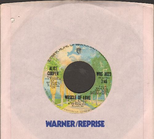 Cooper, Alice - Muscle Of Love/I'm Eighteen (with Warner Brothers company sleeve) - EX8/ - 45 rpm Records