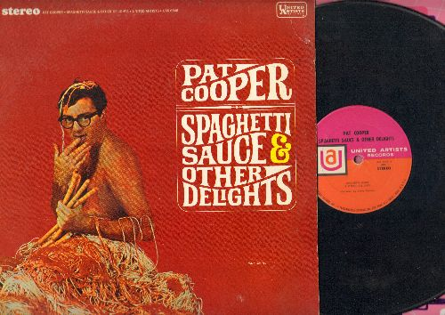 Cooper, Pat - Spaghetti Sauce & Other Delights: Pepperoni Kid, Poppa's Home-Made Wine, Little Red Scooter, more classic comedy routines! (vinyl STEREO LP record) - VG7/VG7 - LP Records