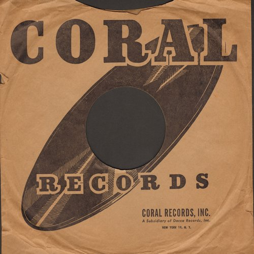 Company Sleeves - 10 inch vintage Coral company sleeve (exactly as pictured), shipped in 10 inch clear plastic sleeve. Enhances and protects you collectable 10 inch 78 rpm record! DUE TO POST OFFICE REGULATIONS THIS ITEM CAN ONLY BE SENT PRIORITY MAIL.  Y