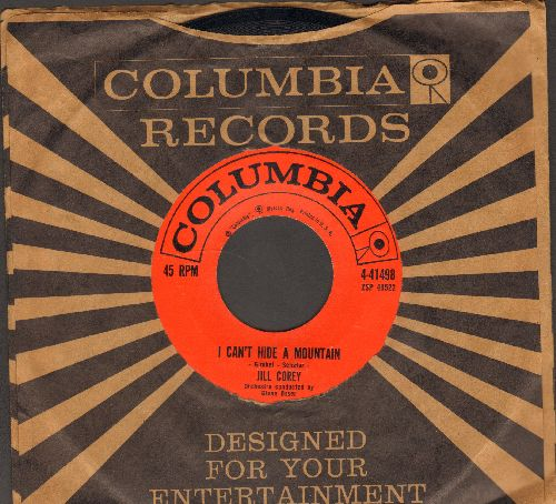 Corey, Jill - I Can't Hide A Mountain/Seems Like Old Times - NM9/ - 45 rpm Records