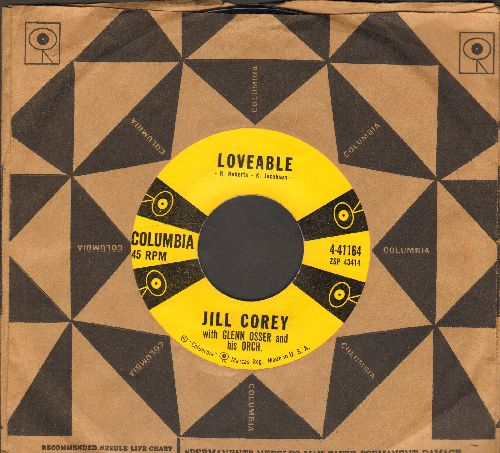Corey, Jill - Loveable/Sweet Sugar Lips (with Columbia company sleeve) - NM9/ - 45 rpm Records