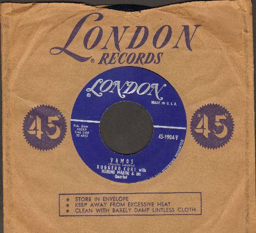 Cori, Ruggero with Marino Marini & His Quartet - Vamos (sung in Italian)/Guarda Che Luna (with London company sleeve) - NM9/ - 45 rpm Records