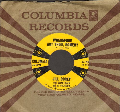 Corey, Jill - Wherefore Art Thou, Romeo?/Big Daddy (with vintage Columbia company sleeve) - NM9/ - 45 rpm Records
