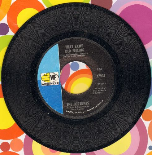 Fortunes - That Same Old Feeling/Lifetime Of Love  - EX8/ - 45 rpm Records