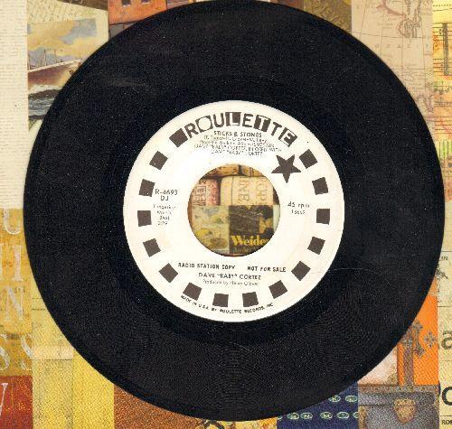 Cortez, Dave Baby - Sticks & Stones/Do Any Dance (DJ advance pressing) - NM9/ - 45 rpm Records