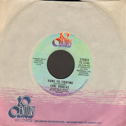 Douglas, Carl - Kung Fu Fighting/Gamblin' Man (This #1 World Hit was inspired by the TV Series and renewed interest in Martial Arts)  - NM9/ - 45 rpm Records