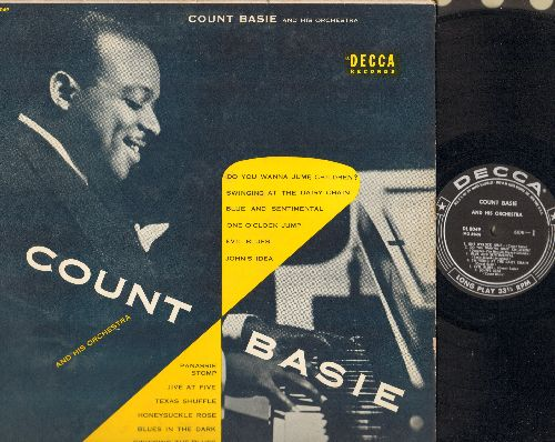 Basie, Count & His Orchestra - Count Basie & His Orchestra: One O'Clock Jump, Jive At Five, Honeysuckle Rose, Panassie Stomp, Evil Blues (vinyl MONO LP record, black label, silver lines with stars) - VG7/EX8 - LP Records