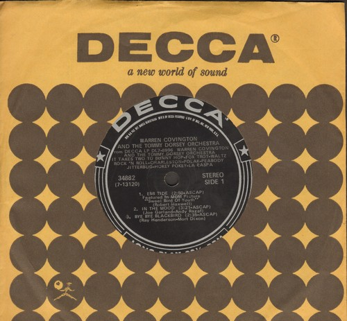 Covington, Warren - Charleston/Ebb Tide/In The Mood/Bye Bye Blackbird/Shadow Waltz/The World Is Waiting For The Sunshine (7 inch 33rpm mini-LP with small spindle hole and Decca company sleeve) - VG7/ - 45 rpm Records