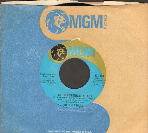 Cowsills - The Impossible Years/The Candy Kid (with MGM company sleeve) - NM9/ - 45 rpm Records