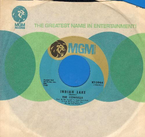 Cowsills - Indian Lake/Newspaper Blanket (light blue/gold label with MGM company sleeve) - NM9/ - 45 rpm Records