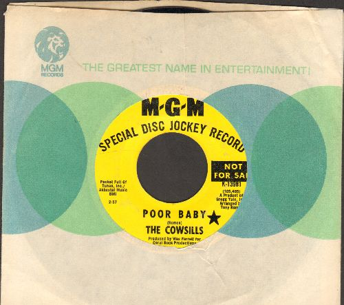 Cowsills - Meet Me At The Wishing Well/Poor Baby (DJ advance pressing with MGM company sleeve) - EX8/ - 45 rpm Records