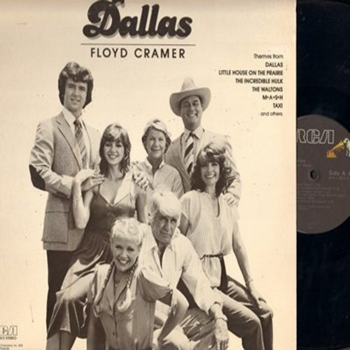 Cramer, Floyd - Dallas: The Waltons, M*A*S*H, Taxi, The Incredible Hulk, Little House On The Prairie (vinyl LP record) - M10/EX8 - LP Records