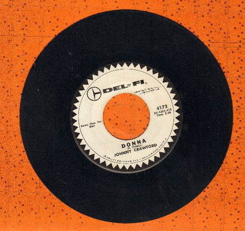 Crawford, Johnny - Patti Ann (Will You Marry Me?)/Donna (DJ advance pressing, wol) - EX8/ - 45 rpm Records