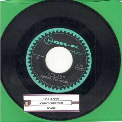 Crawford, Johnny - Patti Ann/Donna (with juke box label) - EX8/ - 45 rpm Records