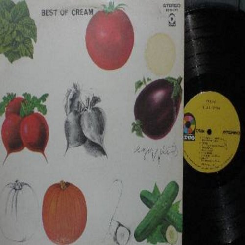 Cream - Best Of Cream: Sunshine Of Your Love, Crossroads, Born Under A Bad Sign, Tales Of Brave Ulysses, Spoonful, I Feel Free, Swlabr, White Room (vinyl STEREO LP record) - EX8/VG7 - LP Records
