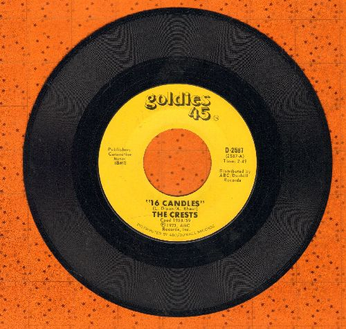 Crests - Sixteen Candles/Beside You (early re-issue) - EX8/ - 45 rpm Records