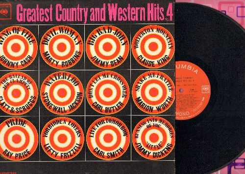 Dean, Jimmy, Johnny Cash, Marty Robbins, others - Greatest Country and Western Hits No. 4: Big Bad John, Ring Of Fire, The Ballad Of Jed Clampett, Waterloo (vinyl MONO LP record) - EX8/EX8 - LP Records