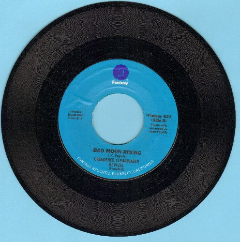 Creedence Clearwater Revival - Lodi/Bad Moon Risisng (blue label) - NM9/ - 45 rpm Records