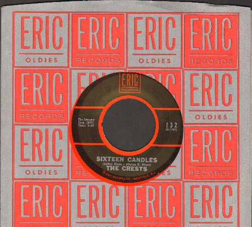 Crests - Sixteen Candles/Trouble In Paradise (arly double-hit re-issue with Eric company sleeve) - NM9/ - 45 rpm Records