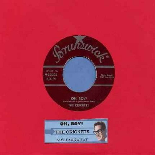 Crickets - Oh, Boy!/Not Fade Away (with juke box label) - VG7/ - 45 rpm Records