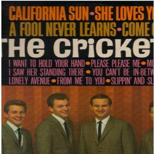 Crickets - The Crickets: California Sun, She Loves You, I Want To Hold Your Hand, Please Please Me, Slippin' And Slidin', I Saw Her Standing There, A Fool Never Learns (vinyl MONO LP record, NICE condition!) - M10/EX8 - LP Records