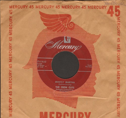 Crew-Cuts - Mostly Martha/Angels In The Sky (burgundy label with vintage Mercury company sleeve) - EX8/ - 45 rpm Records