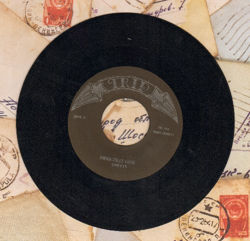 Crests - Sweet One/My Juanita (double-hit re-issue of vintage Doo-Wop recordings) - NM9/ - 45 rpm Records