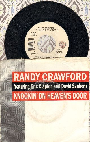 Crawford, Randy - Knocking On Heaven's Door/Medley: Shipyard/Knocking On Hevaen's Door (with Eric Clapton & Stephen McCuller) (with picture sleeve) - M10/VG7 - 45 rpm Records