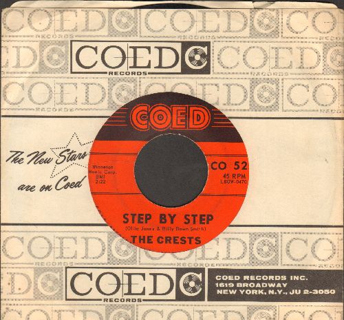 Crests - Step By Step/Gee (with RARE vintage Coed company sleeve) - VG7/ - 45 rpm Records