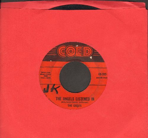 Crests - The Angels Listened In/I Thank The Moon (wol) - VG6/ - 45 rpm Records