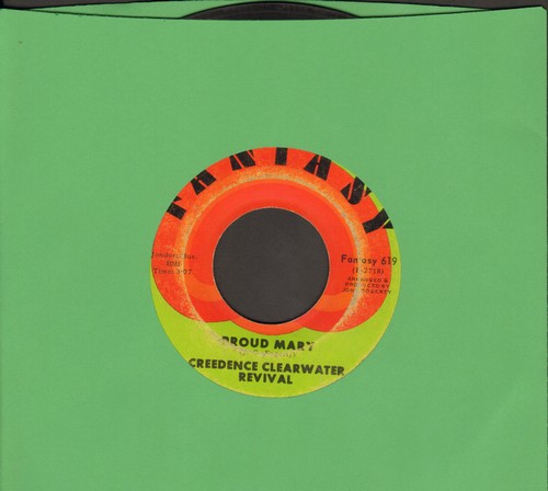 Creedence Clearwater Revival - Proud Mary/Born On The Bayou  - VG6/ - 45 rpm Records