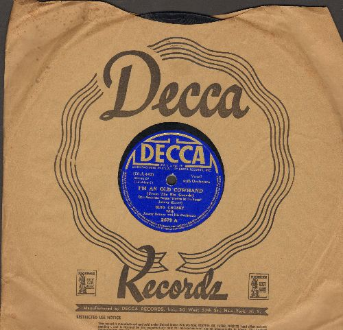 Crosby, Bing - I'm An Old Cowhand (From The Rio Grande)/My Little Buckaroo (10 inch 78 rpm record with Decca company sleeve) - VG7/ - 78 rpm