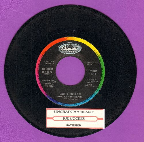 Cocker, Joe - Unchain My Heart/Satisfied (with juke box label) - M10/ - 45 rpm Records
