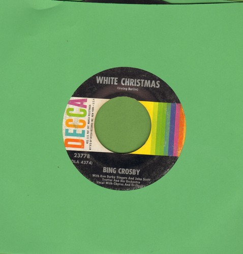 Crosby, Bing - White Christmas/God Rest Ye Merry Gentlemen (multi-color early 1960s issue)  - VG7/ - 45 rpm Records