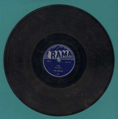 Crows - Gee/I Love You So (RARE 10 inch 78 RPM record) - VG7/ - 78 rpm