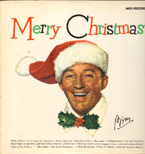 Crosby, Bing - Merry Christmas: White Christmas, Jingle Bells, Santa Claus Is Coming To Town, Silent Night (vinyl LP record, re-issue of vintage recordings) - NM9/NM9 - LP Records