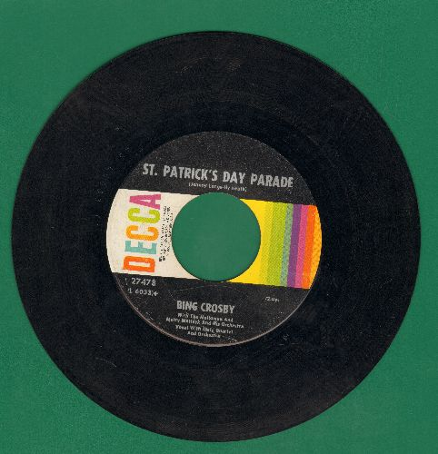 Crosby, Bing - St. Patrick's Day Parade/With My Shillelage Under My Arm (1960s pressing) - VG6/ - 45 rpm Records