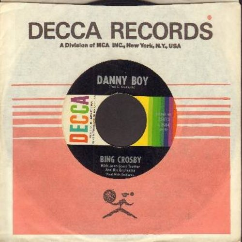 Crosby, Bing - Danny Boy/Dear Little Boy Of Mine (1960s issue with Decca company sleeve) - NM9/ - 45 rpm Records