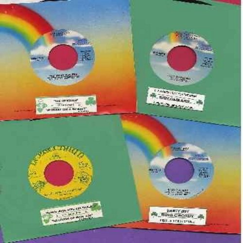 St. Patrick's Day 4-Pack - St. Patrick's Day 4-Pack of 45rpm records with juke box labels, excellent Party Pack for a juke box or a St. Patrick's Day Celebration! Included are Danny Boy/Dear Little Boy Of Mine by Bing Crosby, The Unicorn/Whiskey On Sunday
