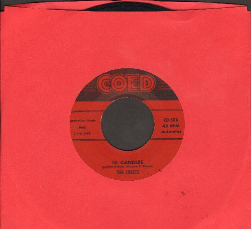 Crests - Sixteen Candles/Beside You (red label first issue) - VG7/ - 45 rpm Records