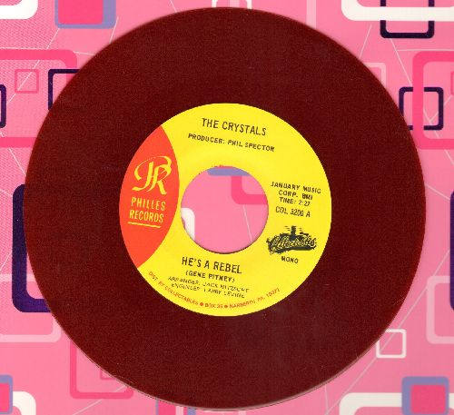 Crystals - He Hit Me (And It Felt Like A Kiss)/He's A Rebel (authentic-looking RED vinyl double-hit re-issue) - M10/ - 45 rpm Records