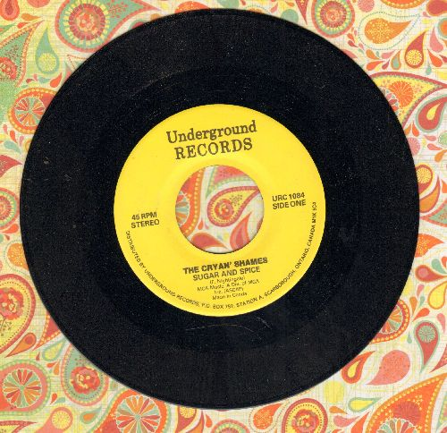 Cryan' Shames - Sugar And Spice/It Could Be We're In Love (double-hit re-issue) - NM9/ - 45 rpm Records