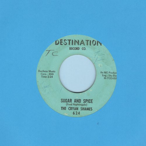 Cryan' Shames - Sugar And Spice/Ben Franklin's Almanac (bb) - VG7/ - 45 rpm Records