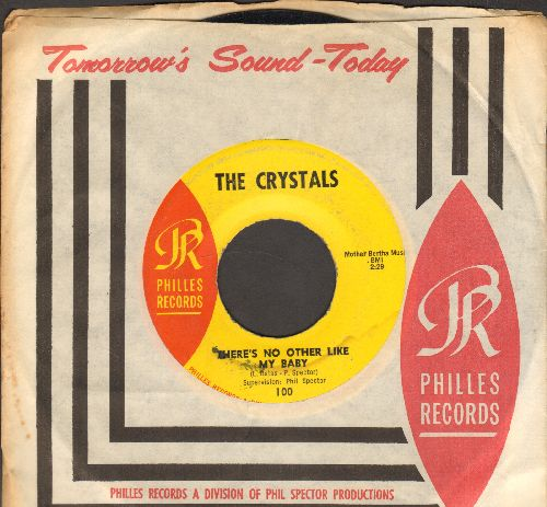 Crystals - There's No Other Like My Baby/Oh Yeah, Maybe Baby (yellow label with vintage Philles company sleeve) - EX8/ - 45 rpm Records