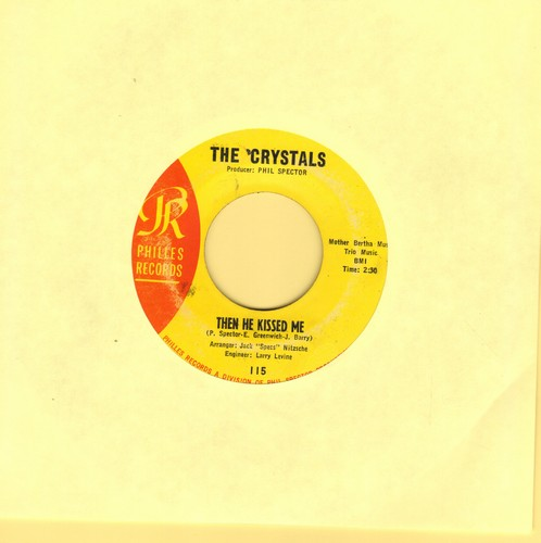 Crystals - Then He Kissed Me/Brother Julius (yellow label) - EX8/ - 45 rpm Records