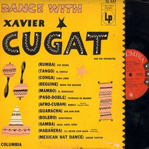 Cugat, Xavier & His Orchestra - Dance With Cugat: Babalu, Jarabe Tapatio, Oye Negra, Cuba Libre, Nightingale, Begin The Beguine (vinyl MONO LP record) - NM9/VG7 - LP Records