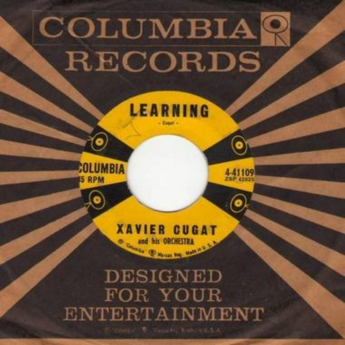 Cugat, Xavier - Learning/Dengoza (Maxixe) (with Columbia company sleeve) - EX8/ - 45 rpm Records